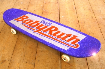 Baby Ruth Skateboard Art