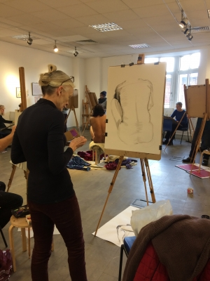 Robin Rutherford life drawing CassArt