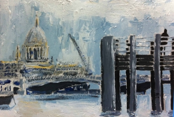 St Pauls from Gabriel's Wharf Robin Rutherford