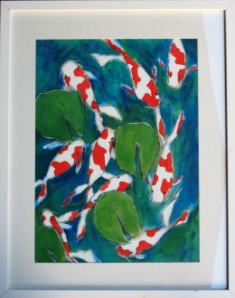 Koi Carp 7 oil on artpaper Robin Rutherford