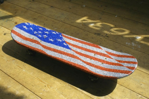 Skateboard art Stars and Stripes