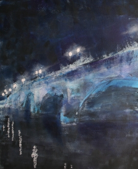 Kingston Bridge moonlit Robin Rutherford